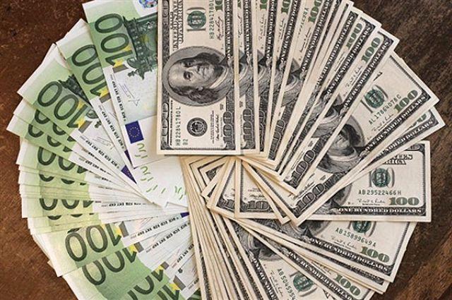 евро в доллары